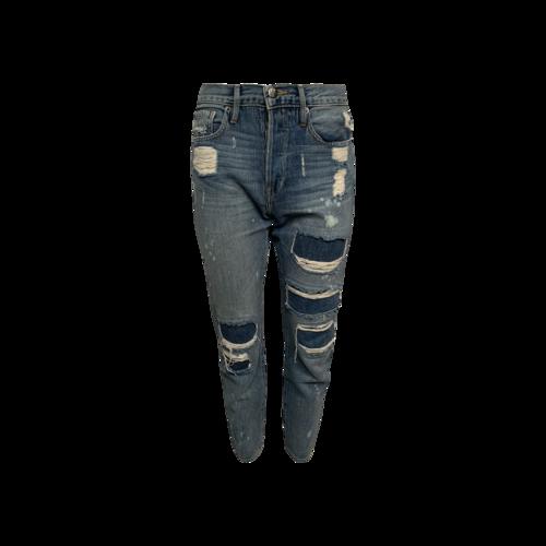 "FRAME Blue ""Le Original"" Distressed Jeans"