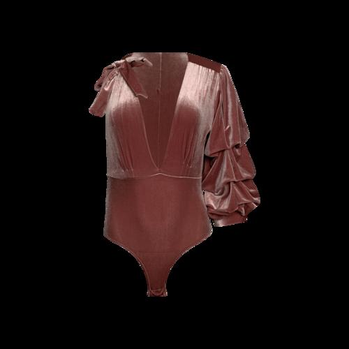 "Misa Los Angeles Pink ""Maeve"" Bodysuit"