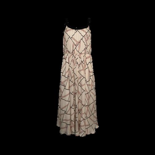 LONGCHAMP Neopolitan Pink Geometric Maxi Dress