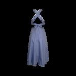 Blue Stripe Open Criss Cross Back Dress