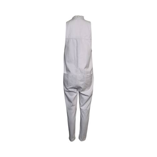 White Denim Jumpsuit