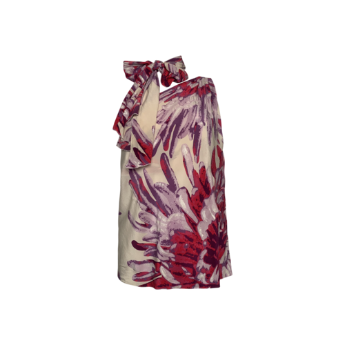 Roberto Cavalli One-Shoulder Floral Top w/ Matching Scarf