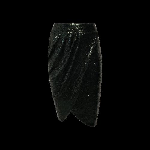 Eloquii Green Sequin Wrap Drape Skirt