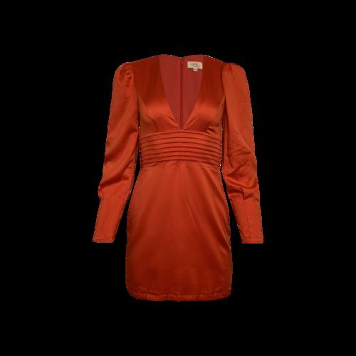 "Camila Coelho Red ""Gylda"" Mini Dress"