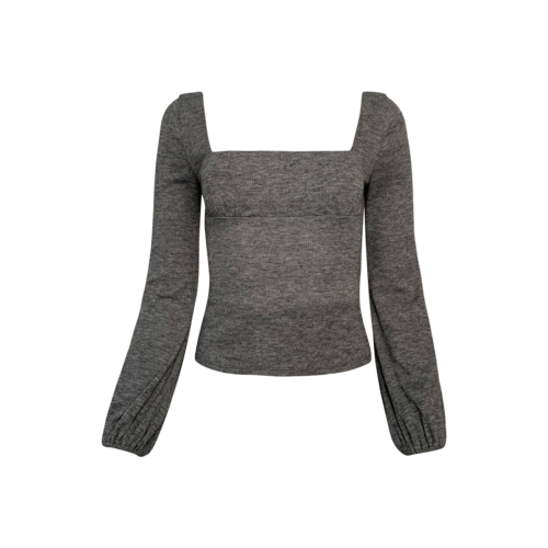 """Lovers and Friends Grey """"Blakely"""" Balloon Sleeve Sweater"""