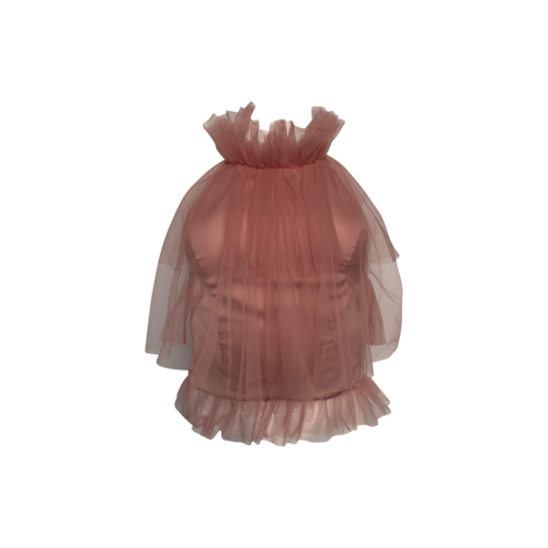 """NBD Pink """"Silas"""" Tulle Top"""