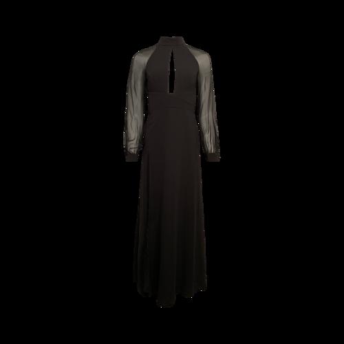 Jill Stuart Black Keyhole High-Neck Gown