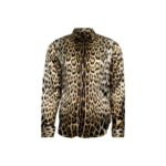 Leopard Print Long Sleeve Button Up Top