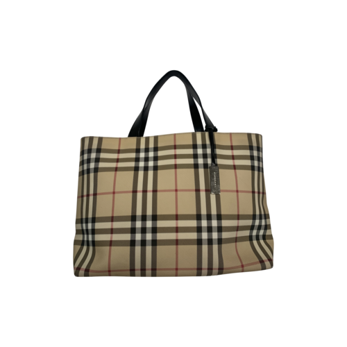 Burberry Beige Classic Nova Check Tote Bag