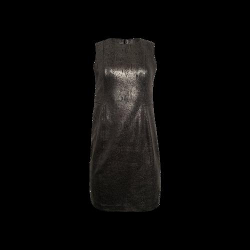 Calvin Klein Metallic Gunmetal Grey Sheath Dress
