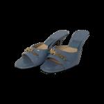 Light Blue New York Magazine Edition Mule Sandals