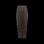 Magnetite Grey Asymmetrical Pleat Pants