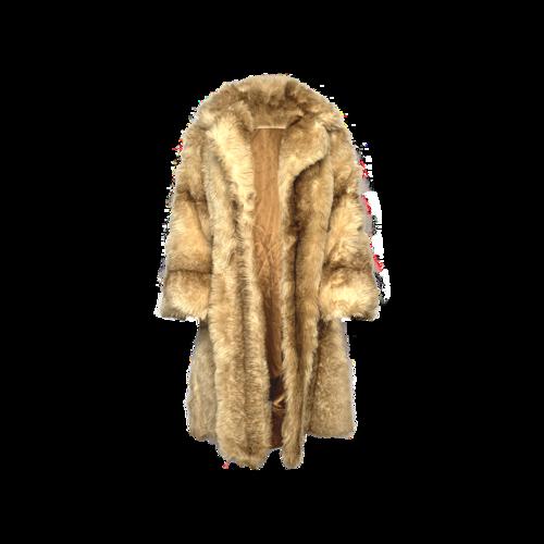 Astraka Beige Faux Fur Coat