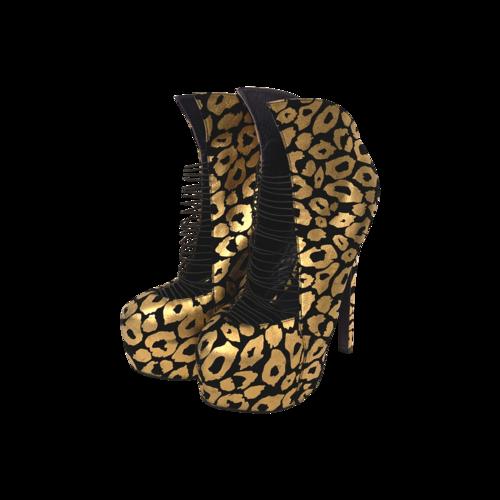 London Trash Crime Cheetah Platform Stilettos