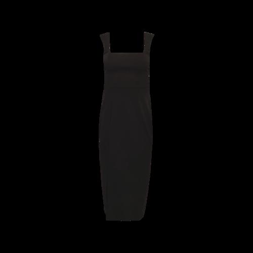 Show Me Your Mumu Black Front Slit Dress