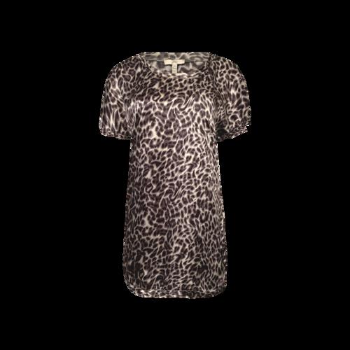 Joie Grey Silk Animal Print T-Shirt Dress
