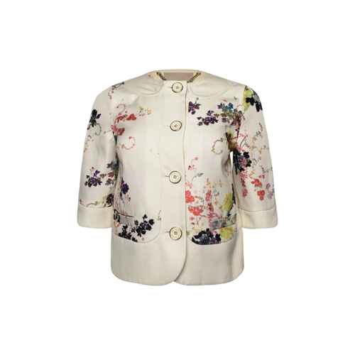 """Ted Baker """"Zohe"""" Summer Bloom Floral Cropped Jacket"""