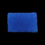 Blue Flat Suede Clutch