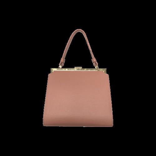 """Pink Calfskin """"Elegant"""" Top Handle Bag"""