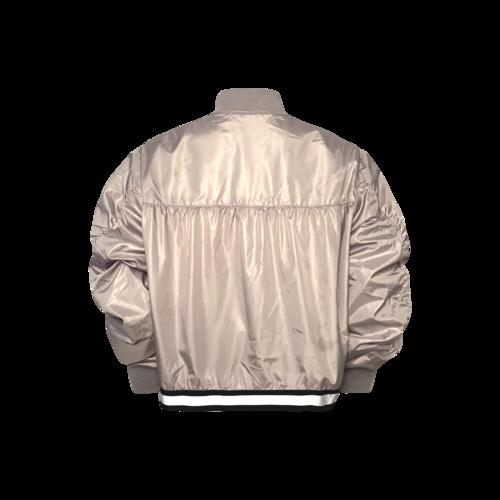 Public School for Soul Cyle Grey Cropped Windbreaker Jacket