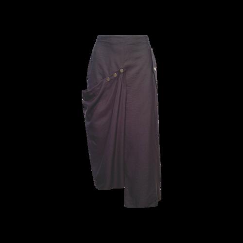 Tibi Grey Adjustable Snap Skirt