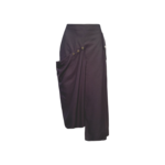 Grey Adjustable Snap Skirt