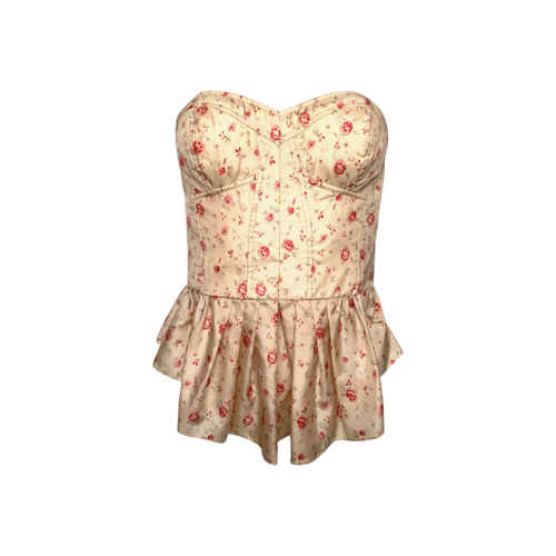 Rebecca Minkoff Strapless Floral Bustier Top