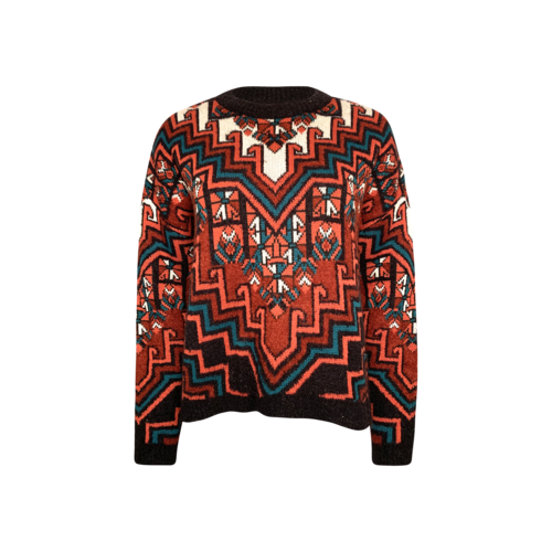 Mara Hoffman Burgundy Patterned Sweater