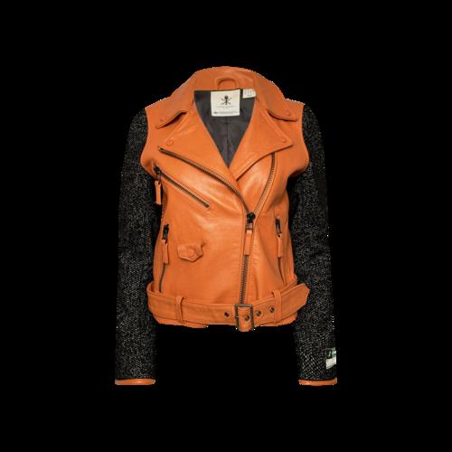 Opening Ceremony X Adidas Piped Orange Moto Jacket