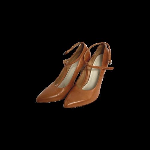 Maison Margiela Brown Leather T-Strap Heels
