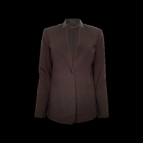 Elie Tahari Black Blazer w/ Textured Collar