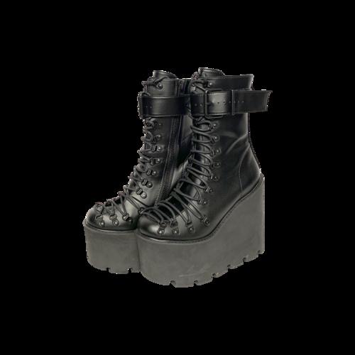 "Current Mood Black Platform ""Traitor"" Boots"