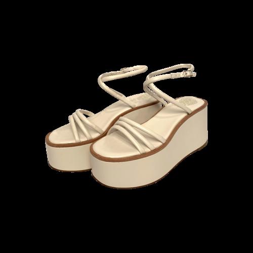 "Vince Camuto White ""Graceny"" Platform Sandals"