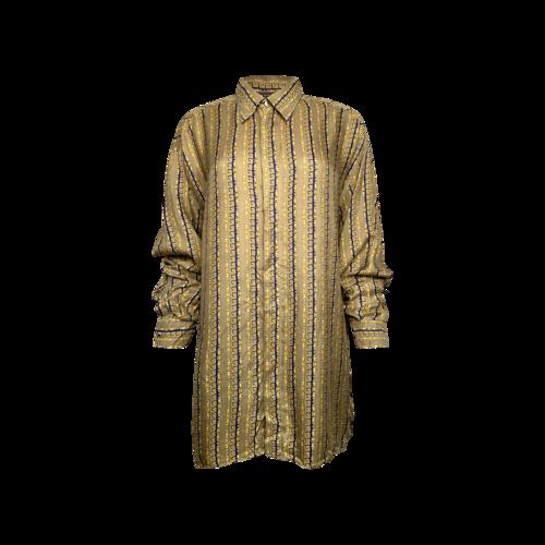 Versace Vintage Patterned Silk Button Up Shirt
