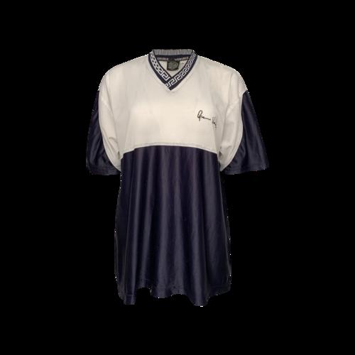 Versace Blue Sheer Jersey Top