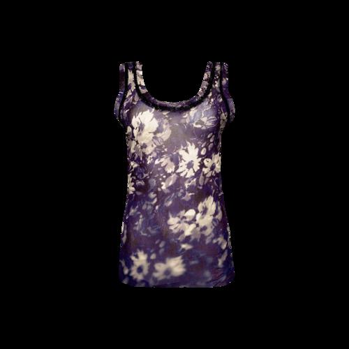 Jean Paul Gaultier Purple Floral Sheer Top