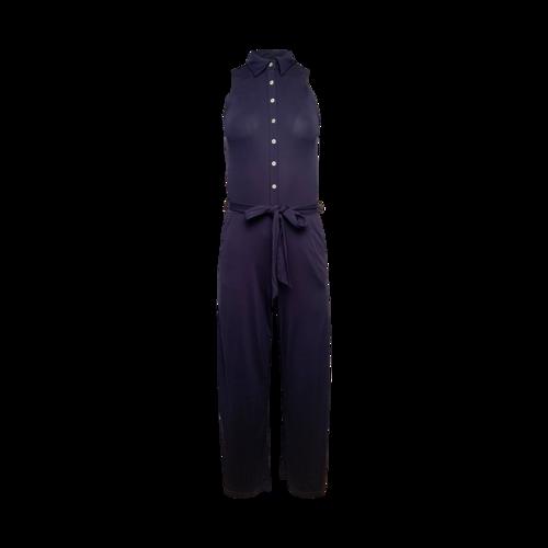 Ralph Lauren Navy Blue Button Front Jumpsuit