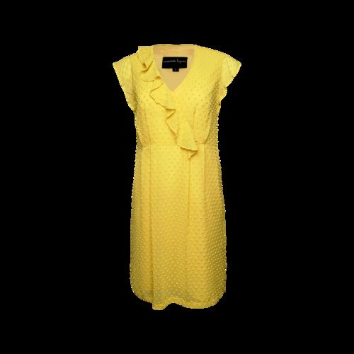 Nanette Lepore Yellow Swiss Dot Dress