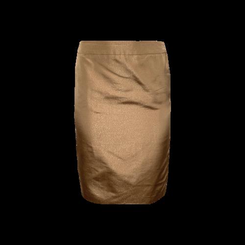 Escada Gold Shimmer Pencil Skirt