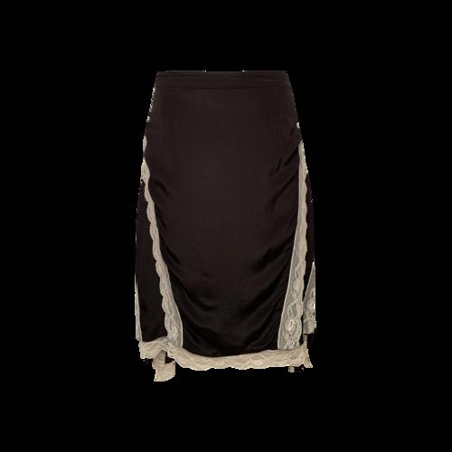 IRO Black Skirt with White Lace Panels