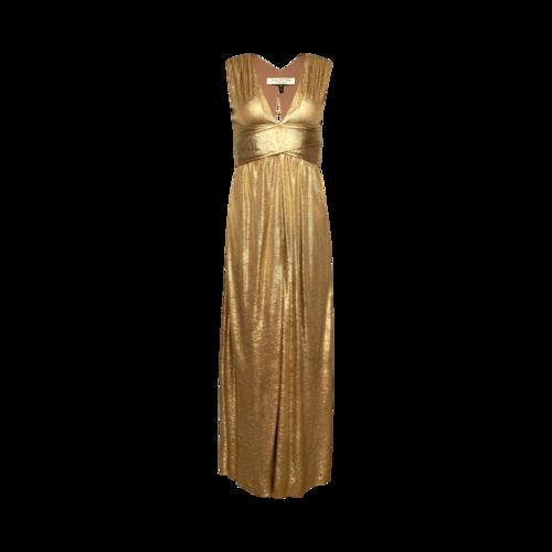 Halston Metallic Gold Gown