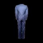 Blue Slim Stitch 2-Piece Suit Set