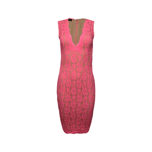 Debbie Carroll Designs Pink Lace Body Con Dress