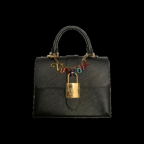 """Louis Vuitton Black """"Locky"""" Handbag"""