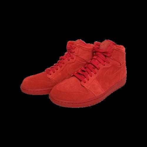 Nike Air Jordan 1 Red Suede Sneakers