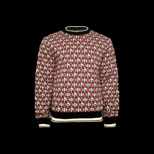 Dolce & Gabbana Red Logo Jacquard Sweater