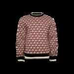 Red Logo Jacquard Sweater