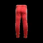 Red Drawstring Sweatpants w/ Paisley Stripes