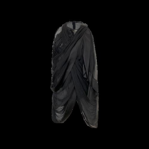 Prada Black Abstract Drape Blouse
