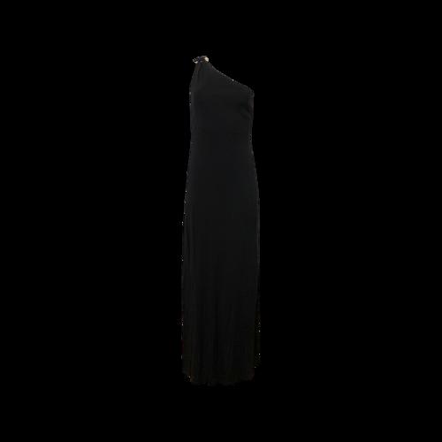 Ralph Lauren Black One-Shoulder Gown